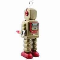 Robot - Tin Toy Robot - High Wheel Robot - gold