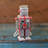 Roboter - Silber - Blechroboter