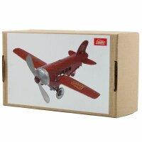 Blechspielzeug - Flugzeug - Rot - Blechflugzeug