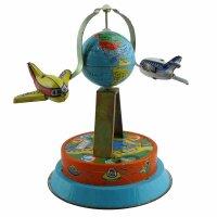 Tin toy - collectable toys - Globe with airplane - Tinairplane