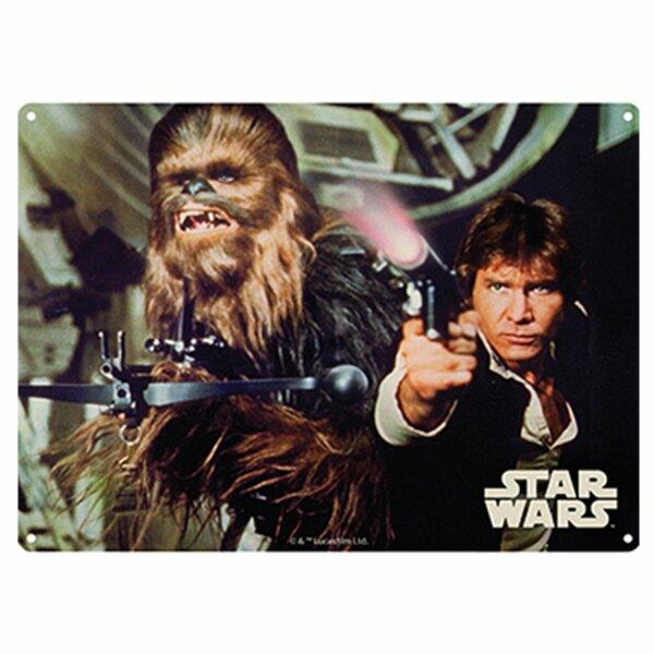 Blechschild - Star Wars - Han Solo and Chewbacca - Nostalgie Schild
