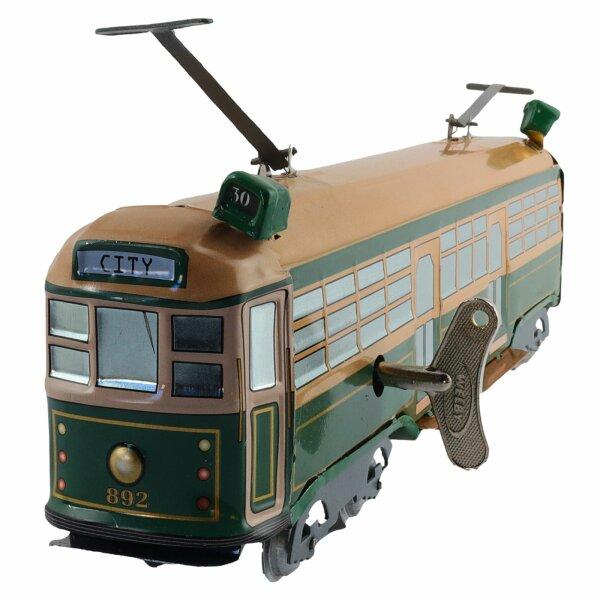 Blechspielzeug - Tram aus Blech - Blechstraßenbahn