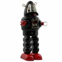 Robot - Tin Toy Robot - Mechanical Planet Robot - black