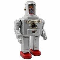 Roboter - Astro Spaceman - silber - Blechroboter