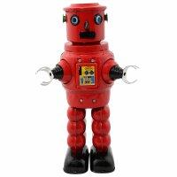 Roboter - Mechanical Roby Robot - rot - Blechroboter