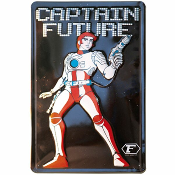 Embossed tin sign - Captain Future - Metal sign