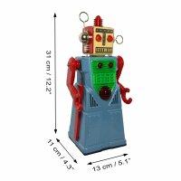 Robot - Chief Robotman - Tin Toy - blue