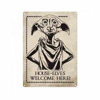 Blechschild 15x21cm - Harry Potter - House-Elves Welcome...