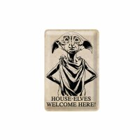 Geprägtes Blechschild 20x30 cm - Harry Potter - House-Elves Welcome Here! - Nostalgie Blech Schild
