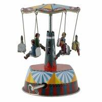 Blechspielzeug - Karussell mit Musik Spieluhr - Musical...