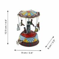 Tin toys - carousel with music music box - musical carousel - tin carousel
