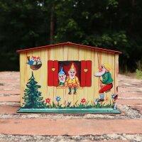 Haus Spardose - Schneewittchen - Blechspielzeug - Blechspardose