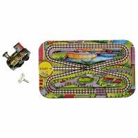 Blechspielzeug - Spielbahn mit Lokomotive - Modern Train Set - inklusive Lok zum Aufziehen