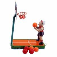 Blechspielzeug - Basketballspieler - Basketball aus Blech