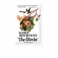 Blechschild - Die Vögel - Hitchcock - Nostalgie Schild