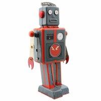 Roboter - Mechanical Robot - grau - Blechroboter