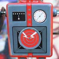 Robot - Tin Toy Robot - Mechanical Robot - grey