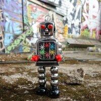 Robot - Tin Toy Robot - High Wheel Robot - silver