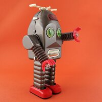 Robot - Tin Toy Robot - Thunder Robot - grey