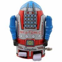 Robot - Tin Toy Robot - Mr. Atomic - silver
