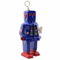 Robot - Tin Toy Robot - Space Robot - blue