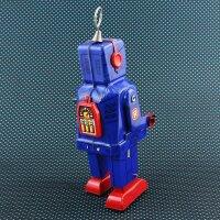 Roboter - Space Robot - blau - Blechroboter