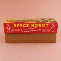 Robot - Tin Toy Robot - Space Robot - brown