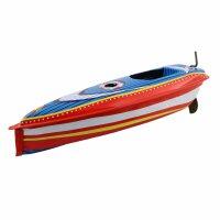 Blechspielzeug - Boot Cruise - Kerzenboot - Pop Pop Knatterboot aus Blech
