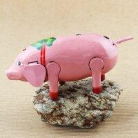 Blechspielzeug - Happy Pig - Schwein - Blechschwein