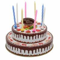 Blechspielzeug - Geburtstagstorte aus Blech - mit Kerzen...