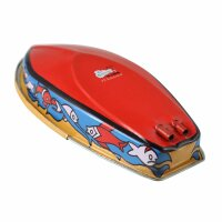 Blechspielzeug - Boot Robin - Kerzenboot - Pop Pop Knatterboot aus Blech