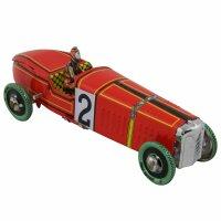 Blechspielzeug - Oldtimer Rennwagen Nr. 2 - Blechauto