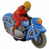 Blechspielzeug - Motoracer blau - Motorrad aus Blech -...