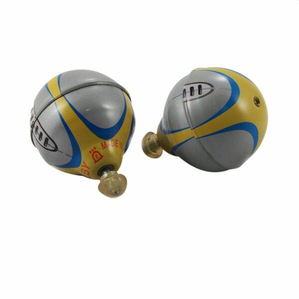 Blechspielzeug - Ballon Kreisel aus Blech - Blechkreisel - silber