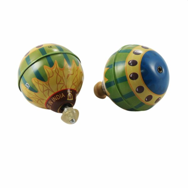 Tin toy - collectable toys - Balloon Top - green - multicolored
