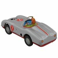 Tin toy - collectable toys - Racer - grey
