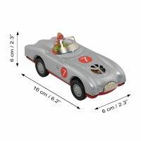Blechspielzeug - Racer - Rennwagen - grau - Blechauto