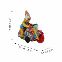 Tin toy - collectable toys - Clown Motorcycle
