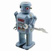 Robot - Tin Toy Robot - Mechanical Robot - light blue