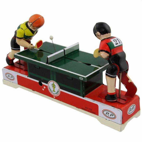 Blechspielzeug - Tischtennis - Tischtennisspieler aus Blech