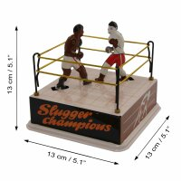 Blechspielzeug - Boxer im Boxring - aus Blech