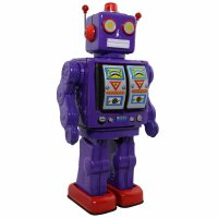 Robot - Tin Toy Robot - Electron Robot - purple