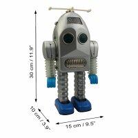 Robot - Tin Toy Robot - Thunder Robot - silver