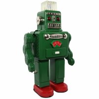 Roboter - Smoking Spaceman Robot - grün - Blechroboter