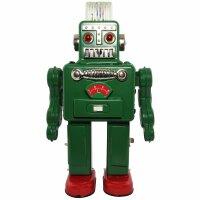 Robot - Tin Toy Robot - Smoking Spaceman Robot - green