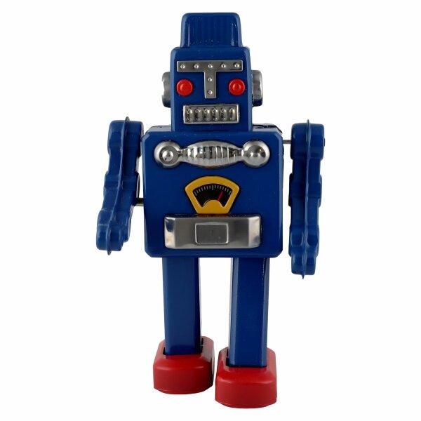 Roboter - Mechanical Robot - blau - Blechroboter