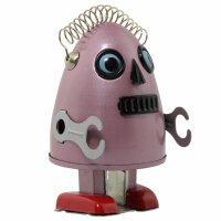 Roboter - Robot Ei - rot - bordeaux - Blechroboter