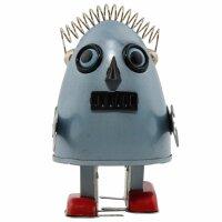 Robot - Tin Toy Robot - Robot egg - silver