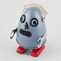 Roboter - Robot Ei - silber - Blechroboter