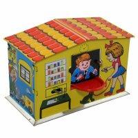 Haus Spardose - Postamt - Blechspielzeug - Blechspardose